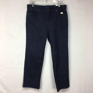 Talbots Dark Wash Heritage Cropped Jeans